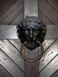 Lion Door Knocker. A lion door knocker at an old church in eastern Germany Royalty Free Stock Image
