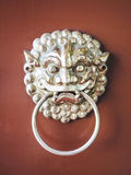 Lion door knocker Chinese style Vintage symbol object Stock Images