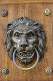 Lion door knocker Stock Photo