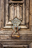 Lion door knocker Royalty Free Stock Images