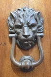 Lion door knocker in San Gimignano, in northwestern Italy Royalty Free Stock Photo