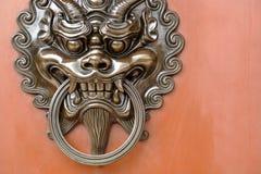 Lion door lock Royalty Free Stock Image