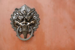 Lion door lock Stock Photography