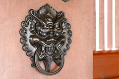 Lion door lock Royalty Free Stock Image