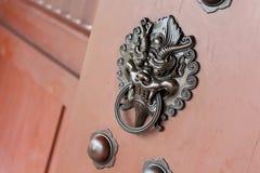 Lion door lock Stock Images
