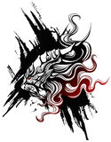 Lion drawn. In the Chinese style Royalty Free Stock Photos