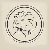 Lion Emblem Royaltyfri Bild