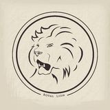Lion Emblem Royalty Free Stock Image