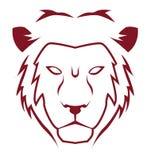 Lion emblem. Illustrator desain .eps 10 Stock Photos