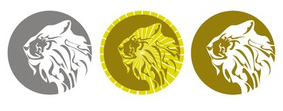 Lion emblem. Three variants Royalty Free Stock Images