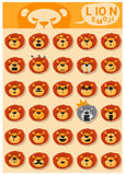 Lion emoji icons Royalty Free Stock Photo
