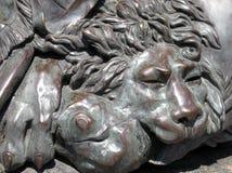 Lion en bronze Image libre de droits