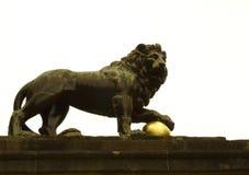 Lion en métal Photographie stock libre de droits