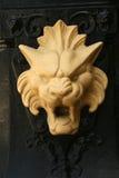 Lion en métal Images libres de droits