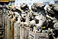 Lion en pierre Photos stock