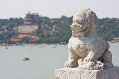 Lion en pierre asiatique Image stock