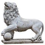 Lion en pierre. Correction de découpage. Photos stock