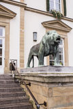 Lion at the entrance of Hotel De Ville Stock Photography
