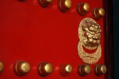 lion för dörrhandtag Royaltyfri Foto