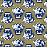 Lion face background pattern Stock Image