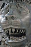 Lion face close-up. The King Cannon detail. Moscow Kremlin. Stock Photo
