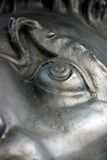 Lion face close-up. The King Cannon detail. Moscow Kremlin. Stock Photos