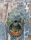 Lion Face Door Detail Royalty Free Stock Photography