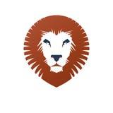 Lion Face heraldic animal element. Heraldic Coat of Arms decorat Stock Image