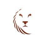 Lion Face heraldic animal element. Heraldic Coat of Arms decorat Stock Images