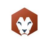 Lion Face heraldic animal element. Heraldic Coat of Arms decorat Stock Photos