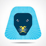 Lion face icon illustration Royalty Free Stock Images