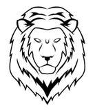 Lion face. Illustrator desain .eps 10 Royalty Free Stock Image