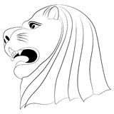 LION FACE TATTOO Royalty Free Stock Photo