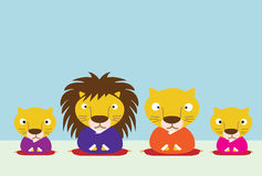 Lion family Stock Image