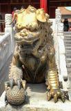 Lion femelle de gardien de Cité interdite Pékin images libres de droits