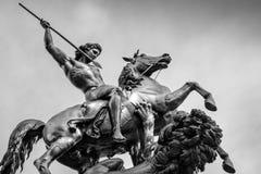 The Lion Fighter. Statue by Albert Wolff - Philadelphia Museum of Art at the Benjamin Franklin Parkway, Philadelphia, Pennsylvania, USA stock photos