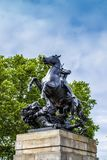 The Lion Fighter. Statue by Albert Wolff - Philadelphia Museum of Art at the Benjamin Franklin Parkway, Philadelphia, Pennsylvania, USA royalty free stock images