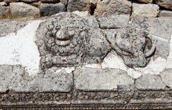 Lion Figure in alter Stadt Arycanda in Antalya. lizenzfreie stockbilder