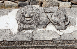 Lion Figure in Arycanda Ancient City in Antalya. royalty free stock images
