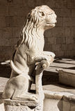 Lion figure at the Mosteiro dos jeronimos Stock Images
