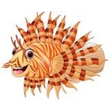 Lion fish cartoon. Illustration of lion fish cartoon Stock Images