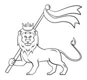 Lion Flag Stock Image