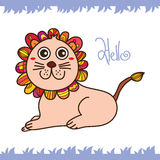 Lion flower cute Stock Images