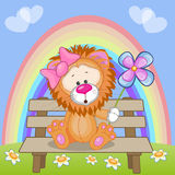 Lion with flower Royalty Free Stock Image
