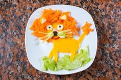 Lion food art Royalty Free Stock Photos