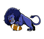 Lion Football Mascot. Vector illustration of lion football mascot Stock Image