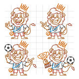 Lion Footballer Doodle Part 2 Illustration Libre de Droits