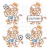 Lion Footballer Doodle Part 3 Illustration de Vecteur