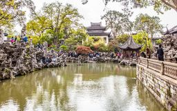 Lion Forest Garden-One of Chinese classical garden in Suzhou City Stock Images