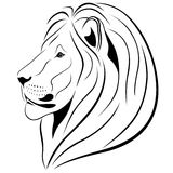 Lion in the form of a tattoo Royalty Free Stock Photo